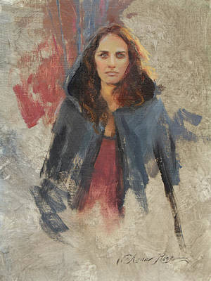 Figures Painting - Winter Cape by Anna Rose Bain