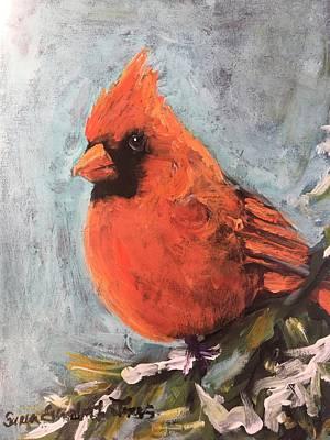 Painting - Winter Cardinal II by Susan Elizabeth Jones