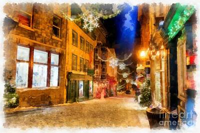 Photograph - Winter Carnival Old Quebec City Lower Town by Edward Fielding