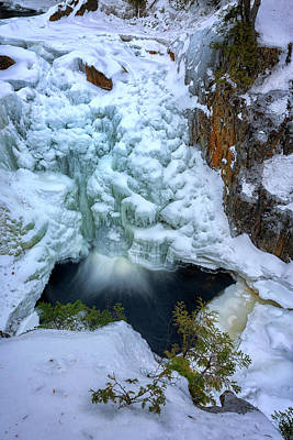 Photograph - Winter Cascade At Smalls Falls by Rick Berk