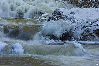 Photograph - Winter Cascade by John Meader