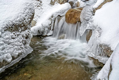 Photograph - Winter Cascade Nh by Michael Hubley