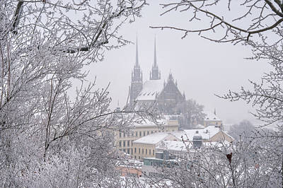 Photograph - Winter Cathedral Of St. Peter And Paul In Brno by Jenny Rainbow