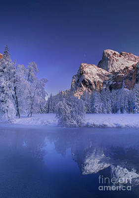 Photograph - Winter Cathedral Rocks Yosemite National Park California by Dave Welling