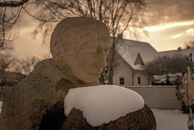 Photograph - Winter Cemetery by Andrew Matwijec