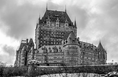 Photograph - Winter Chateau Frontenac - Quebec by Daniel Hagerman