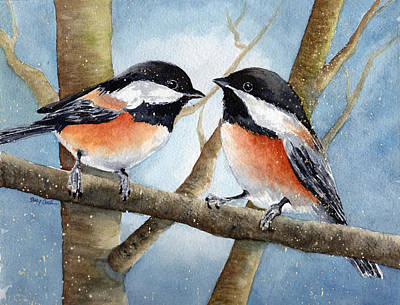 Winter Chickadees Original