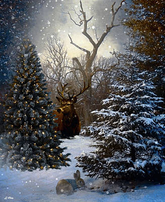 Trees In Snow Mixed Media - Winter Chill 005 by G Berry