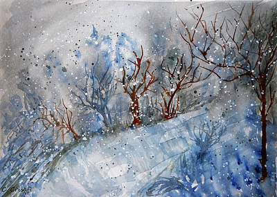 Painting - Winter Chills by Carol Crisafi