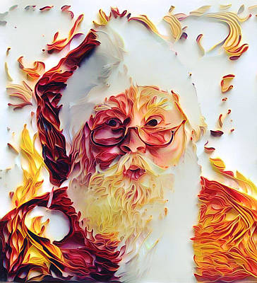 Digital Art - Winter Christmas Santa Claus 2 by Yury Malkov