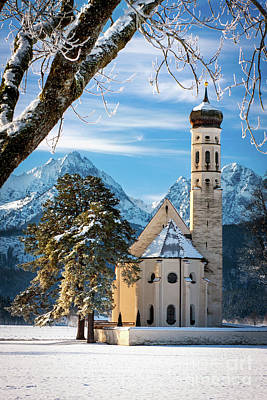 Photograph - Winter Church In Bavaria by Brian Jannsen