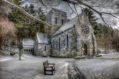 Winter Scene Photograph - Winter Church In New England by Joann Vitali