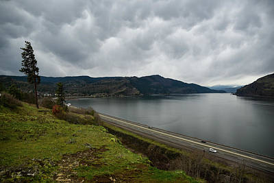 Photograph - Winter Clouds Above The Columbia by Tom Cochran