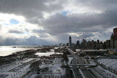 Winter Clouds Over Grant Park Art Print by Gregory Jeffries
