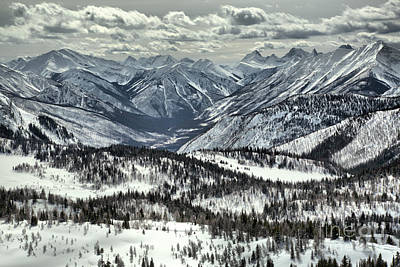 Photograph - Winter Clouds Over Sunshine Village by Adam Jewell