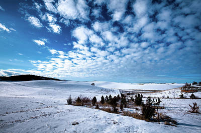 Photograph - Winter Clouds Over The Palouse by David Patterson