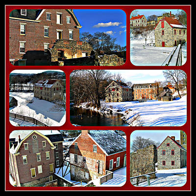 Photograph - Winter - Colonial Industrial Quarter by Jacqueline M Lewis