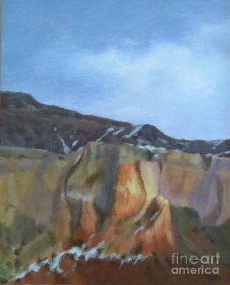 Painting - Winter Colors At Abiquiu by Phyllis Andrews