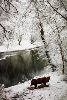 Photograph - Winter Contemplation Watercolor Painting by Debra and Dave Vanderlaan