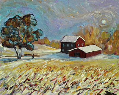 Art Print featuring the painting Winter Corn by Lesley Spanos