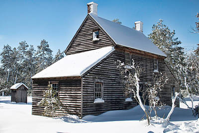 Photograph - Winter Cottage At Batsto by Kristia Adams