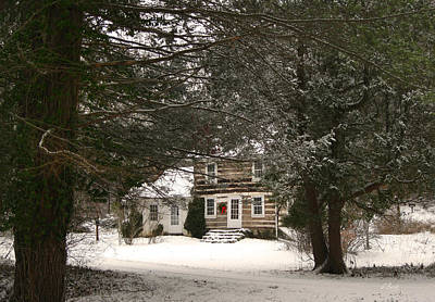 Winter Cottage Art Print by Gordon Beck