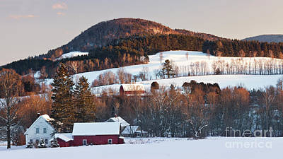 Photograph - Winter Countryside At Sunset by Alan L Graham