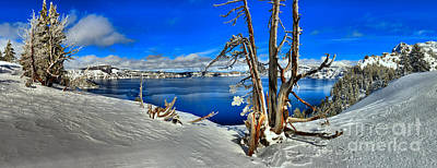 Photograph - Winter Crater Lake Panorama by Adam Jewell