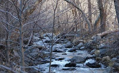 Photograph - Winter Creek - 2 by Christy Pooschke