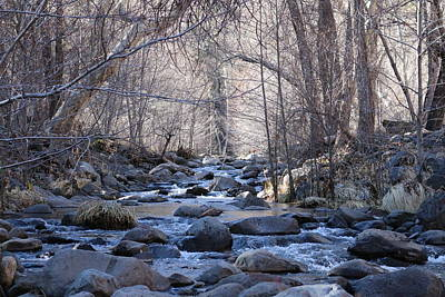 Photograph - Winter Creek - 4 by Christy Pooschke