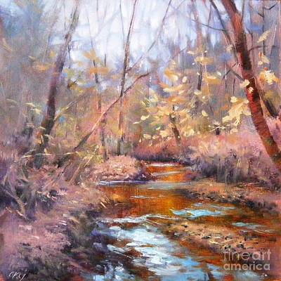 Painting - Winter Creek by Celine  K Yong