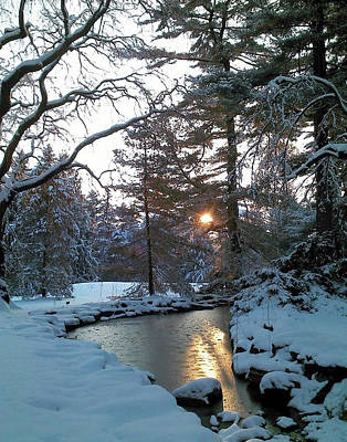 Photograph - Winter Creek by Melinda Blackman