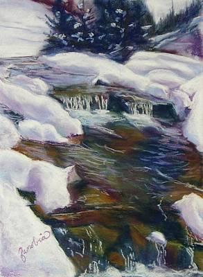 Winter Creek Print by Zanobia Shalks