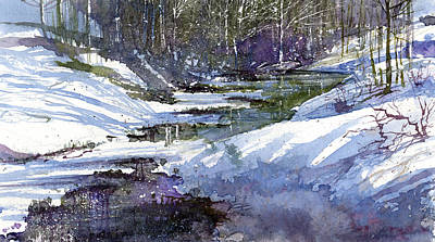 Winter Creekbed Art Print by Andrew King