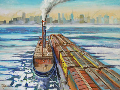 Art Print featuring the painting Winter Crossing by Christopher Jenkins