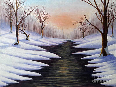 Painting - Winter Dawn by KJ Burk