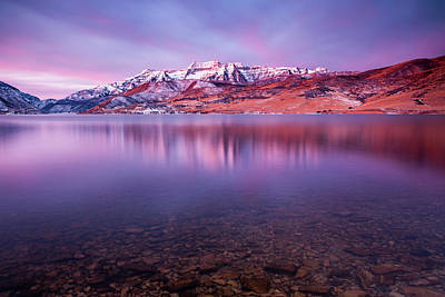 Photograph - Winter Dawn Reflection. by Johnny Adolphson
