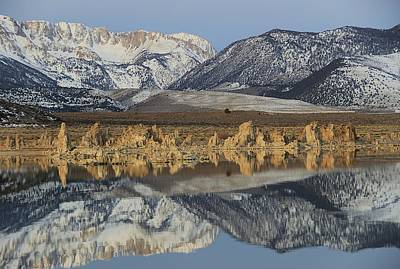 Photograph - Winter Dawn Reflections On Tufa by Sean Sarsfield