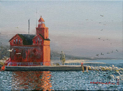 Painting - Winter Day At Big Red by Valentin Katrandzhiev