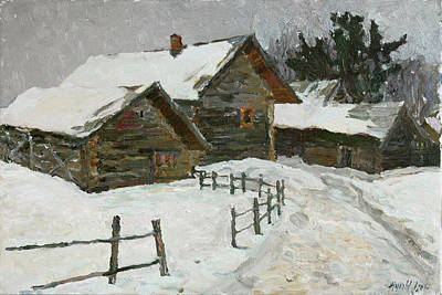 Painting - Winter Day In Bugrovo by Juliya Zhukova