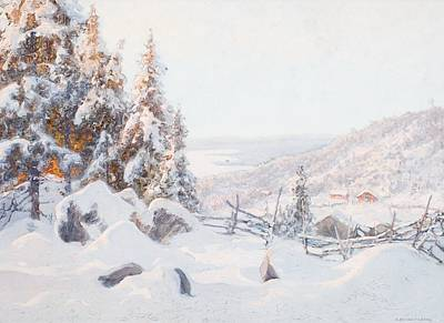Snow Painting - Winter Day In Dalarna by Celestial Images