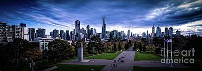 Photograph - Winter Day In Melbourne Panorama by Franz Zarda