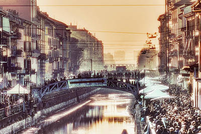 Photograph - Winter Day In Milan by Roberto Pagani