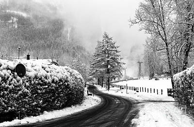 Photograph - Winter Day In The Alps by John Rizzuto