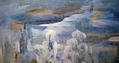 Inner World Painting - Winter Day by Madina Kanunova