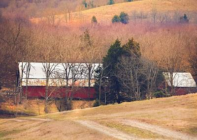 Photograph - Winter Day On A Tennessee Farm by Debbie Karnes