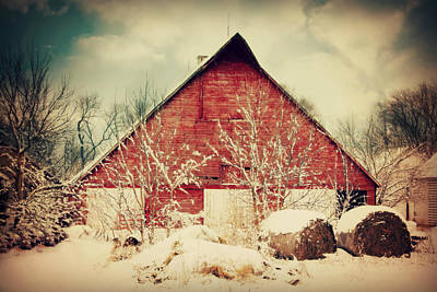 Country Cottage Photograph - Winter Day On The Farm by Julie Hamilton