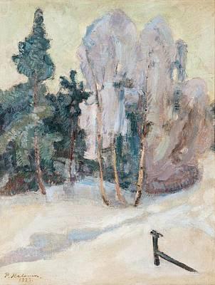 Pekka Wall Art - Painting - Winter Day by Pekka Halonen
