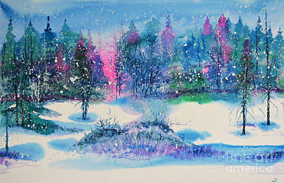 Painting - Winter Day by Zaira Dzhaubaeva