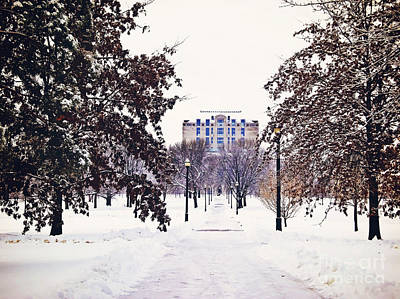 Photograph - Winter Days At Ohio State by Rachel Barrett
